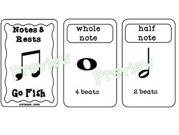 Rhythm (Note and Rest) Go Fish Game