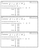 Note and Rest Values - Assessment Slip