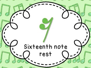 Note and Rest name Posters for your classroom