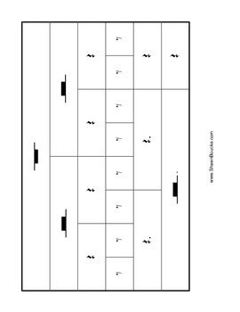 Note and Rest values chart