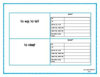 Note cards- 23 verbos -ir en presente