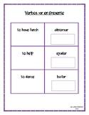 Note cards-Verbos -ar en tiempo presente