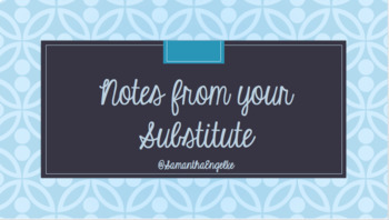Note from your Substitute