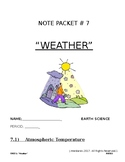 Note packet for Weather