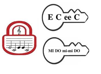 Note reading CDE - DO RE MI