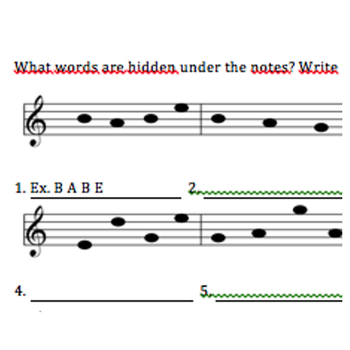 Note riddles (learn the notes)