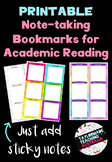 Note-taking Bookmarks for Academic Reading