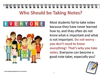 Note taking - Empowering Students to Improve!