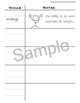 Note-taking Graphic Organizer