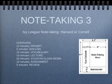 Note-taking: Harvard Style and Cornell Notes