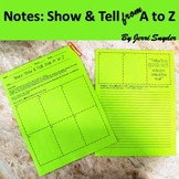 Note Taking! FUN Note Taking for ANY subject! Show & Tell from A to Z!