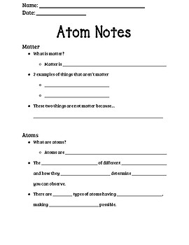 Note template for Atoms