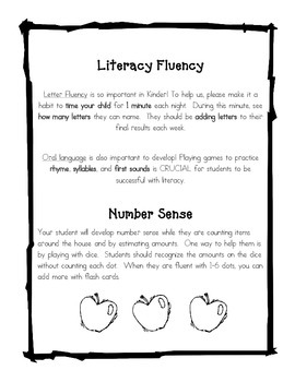 Note to Parents on Fluency