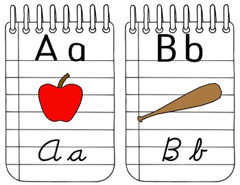 Notebook Alphabet Bunting - 2 letters per page