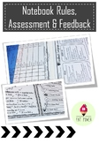 Notebook Assessment Rubric, Feedback & Rules