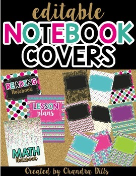 Notebook/Binder Covers {Editable}