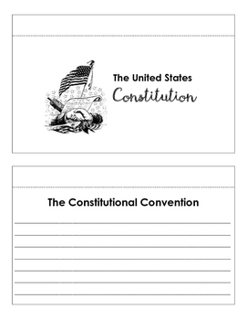 Notebook Booklet on the United States Constitution