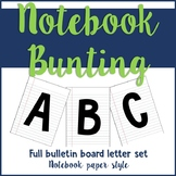 Notebook Bulletin Bunting Letters