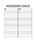 Notebook Check Template
