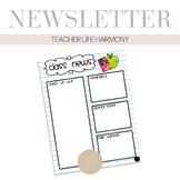 """""""Notebook"""" Class Newsletter"""