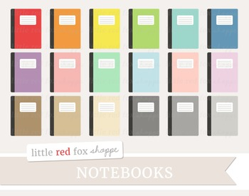 Notebook Clipart; Journal, Planner, Diary, Book