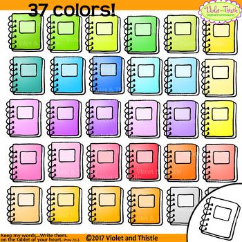 Notebook Clipart Clip Art 37 Colors