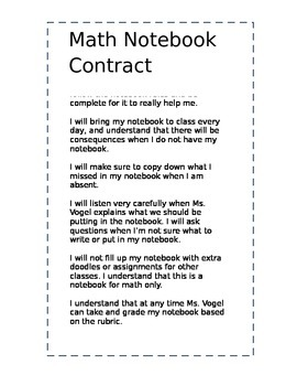 Notebook Contract