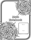 Notebook Cover Page: Math