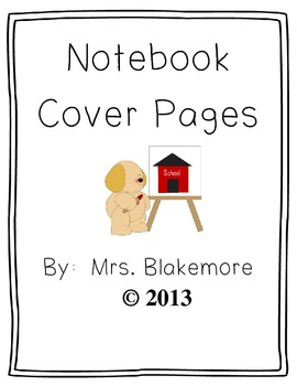 Notebook Cover Pages