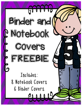 Notebook and Binder Cover Pages FREEBIE