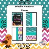Chalkboard Chevron Polka Dots Notebook Covers {Editable}