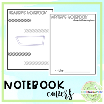 Notebook Covers (Reading and Writing)