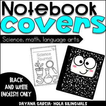 Notebook Covers - black and white