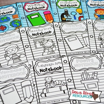Notebook Covers for Interactive Notebook or Journals (English & Spanish)