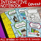 Notebook Covers for Interactive Notebook or Journals (Engl