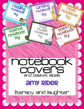 Notebook Covers {reading, writing, math, science, social studies, poetry}