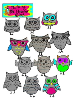 Notebook Doodle Owls for Personal or Commercial Use