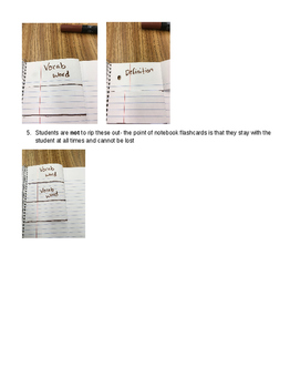 Notebook Flashcards- a great note taking strategy for kids