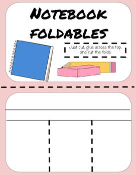 Notebook Foldables- Variety