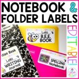 Notebook & Folder Labels {EDITABLE!}