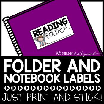 Notebook & Folder Labels for Students