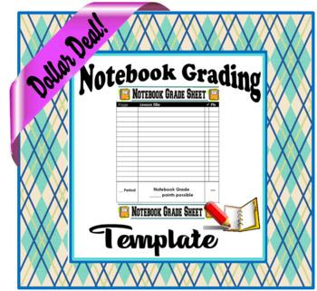 Notebook Grading Template- Dollar Deal!