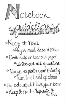Notebook Guidelines