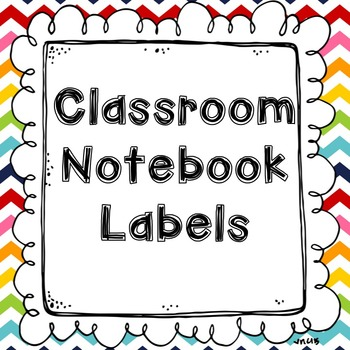 Notebook / Journal Labels
