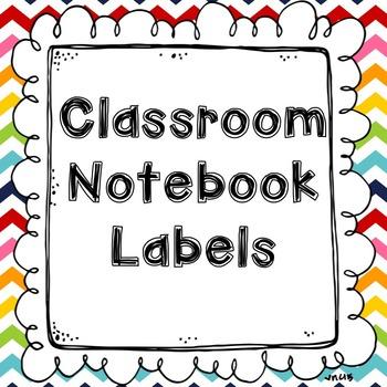 Notebook / Journal Labels