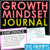 GROWTH MINDSET WRITING PROMPTS:  Creative Writing Journal Project, Bell Ringers