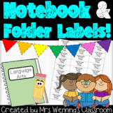 Notebook and Folder Label Templates!
