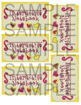 Notebook Labels - All 4 Colors