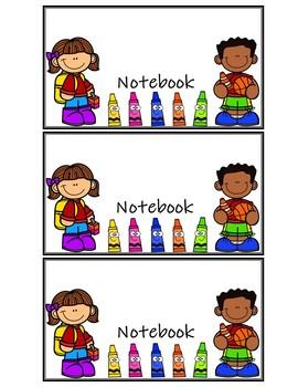Notebook Labels / Etiquetas para Cuadernos