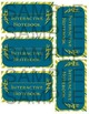Notebook Labels - Green with Blue